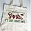 Thumbnail: RELAX SANTA Canvas Tote Bag