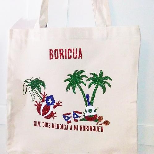 BORICUA Canvas Tote Bag