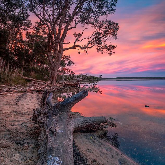 Sunset at Lake Weyba