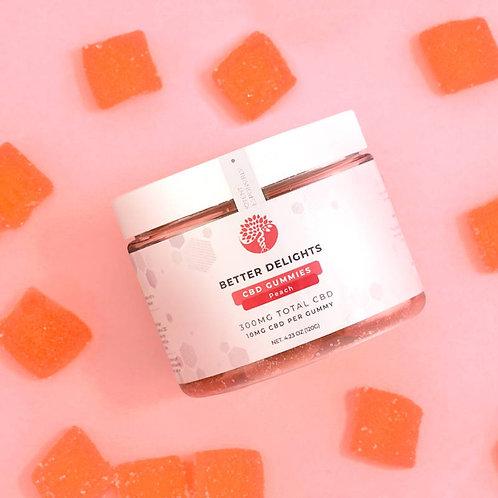 CBD Peach Gummies • 300mg
