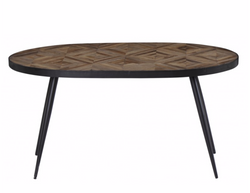 Table ovale marqueterie