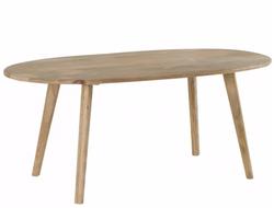 Table de repas bois blanchi ovale