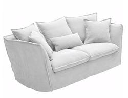 Canapé en lin 2 places