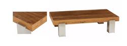 Table basse bois et inox