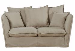 Canapé en lin beige