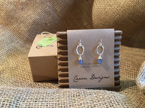 Silver and Brazil Kyanite Earrings