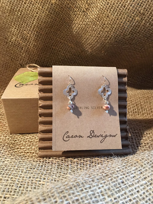 Sterling Silver Earrings with Stone Accent