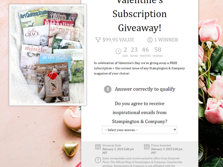 Valentine's Subscription Giveaway from Stampington & Company!