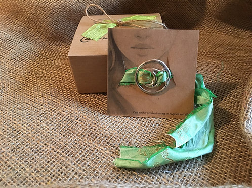 Green Sari Silk Choker Necklace