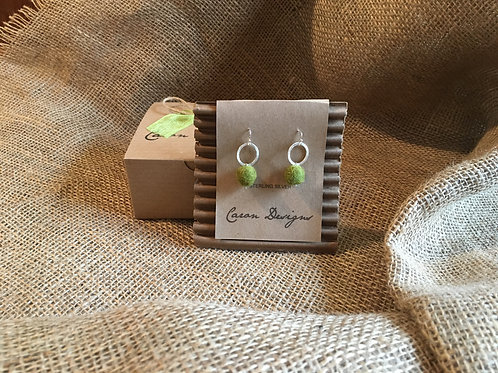 Silver and Wool Felted Earrings