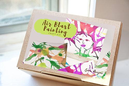 Blow Painting Craft Kit