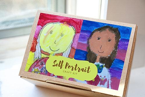 Self Portrait Painting Kit for Kids, Activities Kit, Kid Craft Kit, Painting Cra