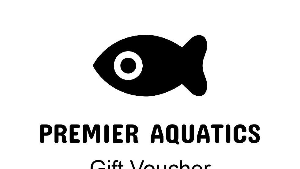 Premier Aquatics gift Voucher for £30