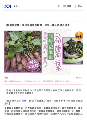 【番薯葉營養】潤燥滑腸涼血解毒 只有一種人不適合進食|香港01|教煮.jpg