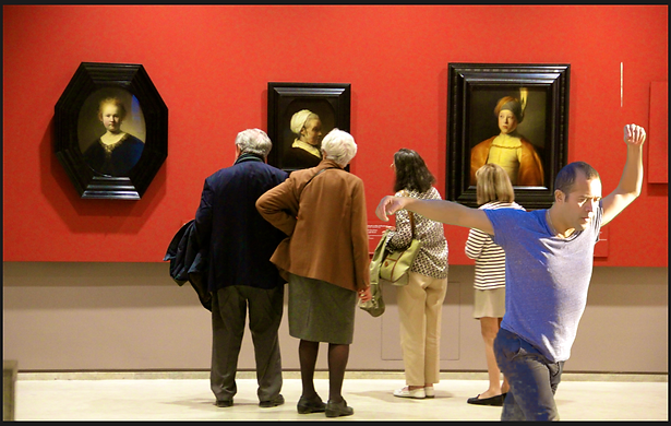 DANCING WITH ART IN LOUVRE