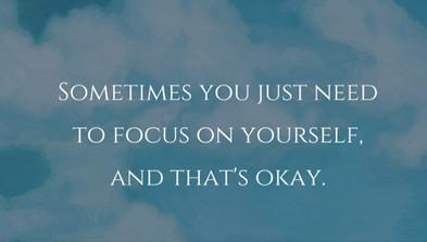 Сфокусируйся на себе!