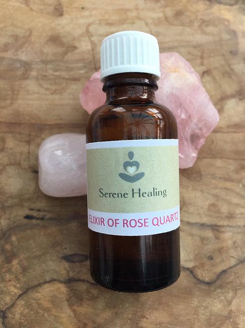 Elixir of Reiki Attuned Rose Quartz