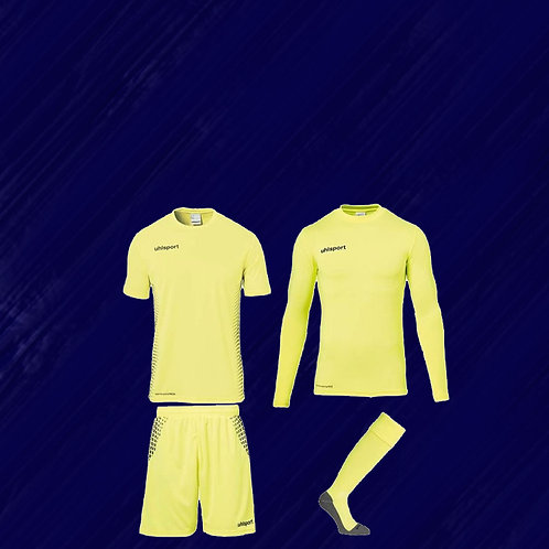 SCORE GOALKEEPER SET JAUNE FLUO