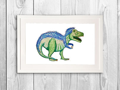 T-REX WALL PRINT WITH FRAME.jpg