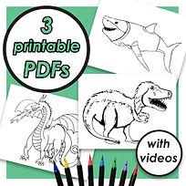 COLORING PAGE PDFS (SHARK, DRAGON, T-REX) 2.jpg