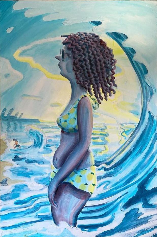 Sophie Ménade and the Wave II, 2021.jpg