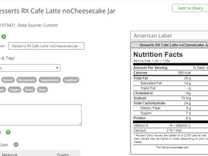 How to Add a Custom Food to Cronometer from a Nutrition Label