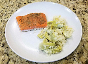 Salmon, Artichoke, and Cauliflower Dinner - Light and Delicious!