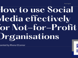 How to use Social Media effectively for Not for Profit Organisations
