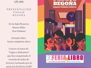 Presentación de Pasaje Begoña en La Feria del Libro de Las Palmas