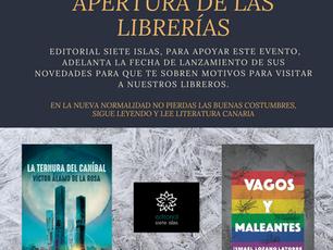 Editorial siete islas apoya apertura de las librerías