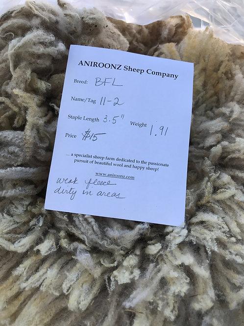 11-2 BFL raw fleece