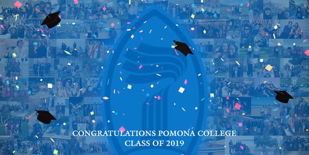Pomona College 2019 Graduation Banner
