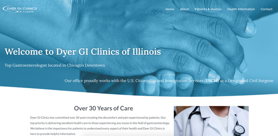 Web design - Dyer GI Clinics of Illinois