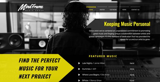 Web design & logo - Mindframe Media Grou