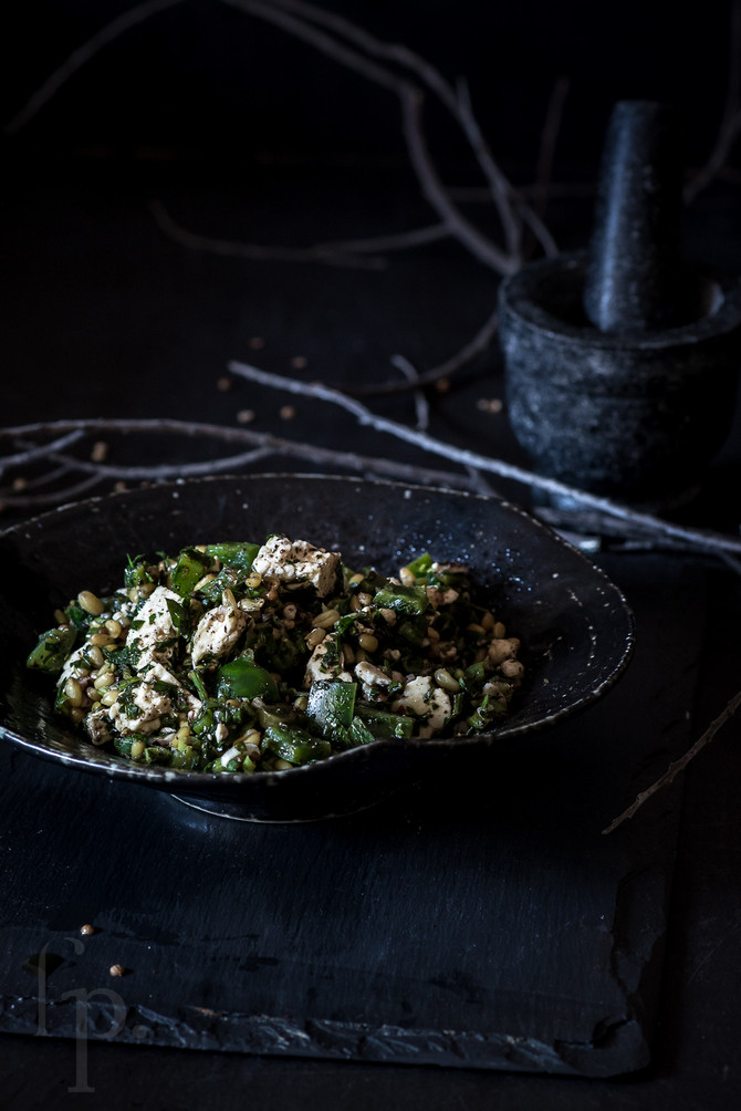 parsley, feta & farro salad