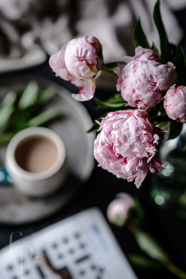 peonies and the crossword