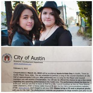Here ye, here ye! City of Austin Proclaims Annie & Kate Day!