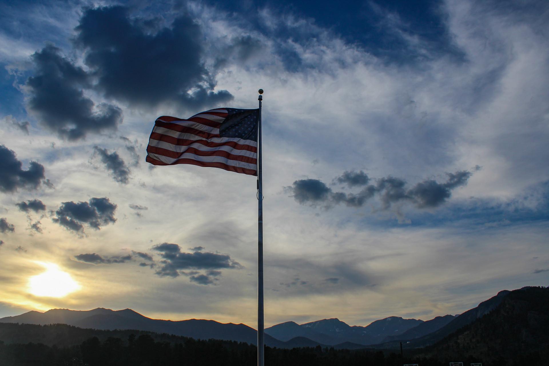 Flag in Sky