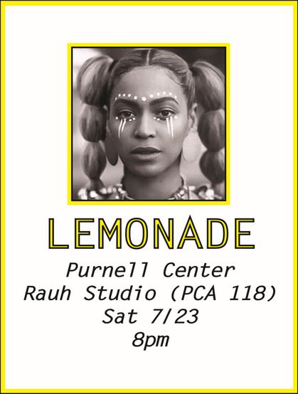 Lemonade Screening Flyer