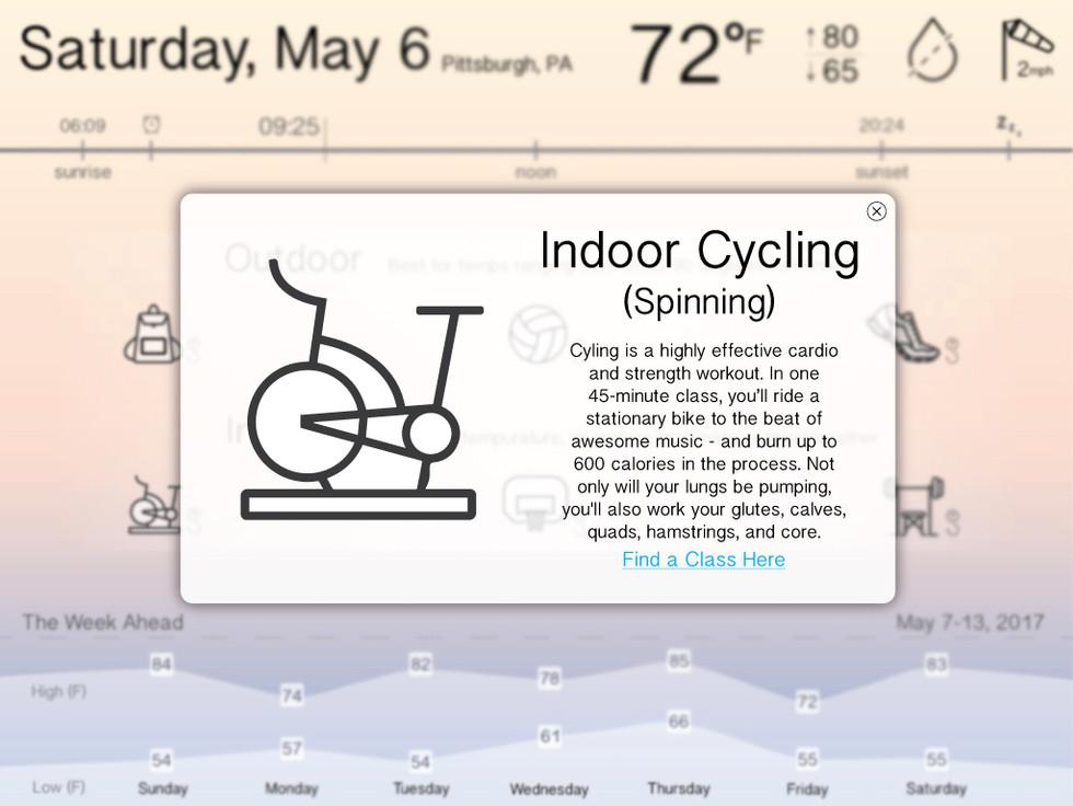 Fitness Desktop Site