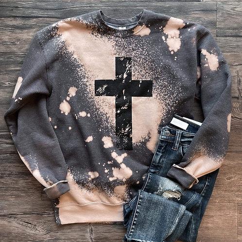 Bleached Cross Sweatshirt