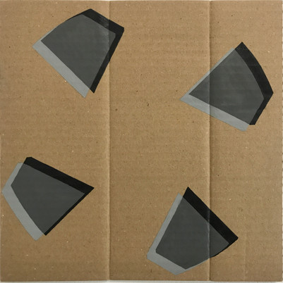 "Delusion, 2020, Acrylic on cardboard, 9"" X 9"""