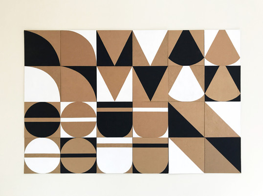 "No.6, 2020, Acrylic on cardboard, 28.5"" X 42.5"""