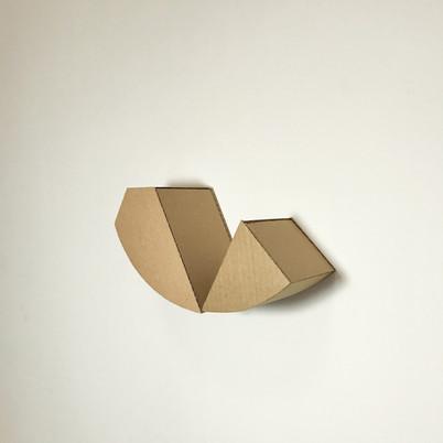 "No.16, 2020, Cardboard, 5.5"" X 9.8"" X 0.6"""