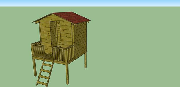 בית מעץ להרכבה עצמית