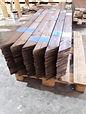 קורות ולוחות עץ לגדר להרכבה עצמית , ניתן לקנות עץ צבוע וחתוך למידה להרכבה עצמית