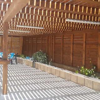 גדר ופרגולה לגינה