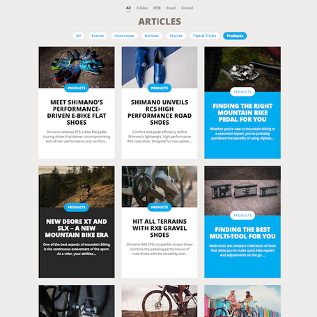 Voor Ride Shimano Magazine schreven we meerdere artikelen over Shimano producten.