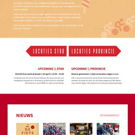 We adviseren SportUtrecht op het gebied van marketing en communicatie voor de Vuelta Fietshubs in aanloop naar de start van de Ronde van Spanje in Utrecht.
