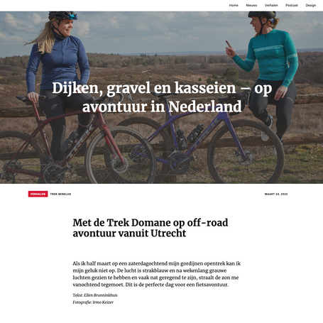 Voor het blog van Trek Bikes Benelux gingen we op pad met de Domane SLR 9 Disc eTap en schreven we hierover voor het Trek Blog.